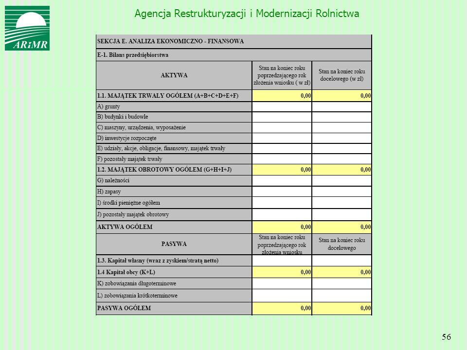 Agencja Restrukturyzacji i Modernizacji Rolnictwa 56