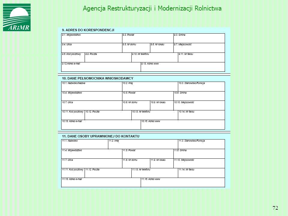 Agencja Restrukturyzacji i Modernizacji Rolnictwa 72