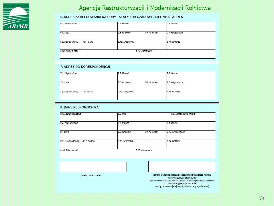 Agencja Restrukturyzacji i Modernizacji Rolnictwa 74