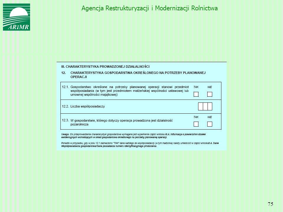 Agencja Restrukturyzacji i Modernizacji Rolnictwa 75
