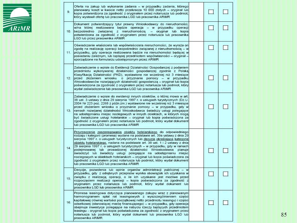 Agencja Restrukturyzacji i Modernizacji Rolnictwa 85