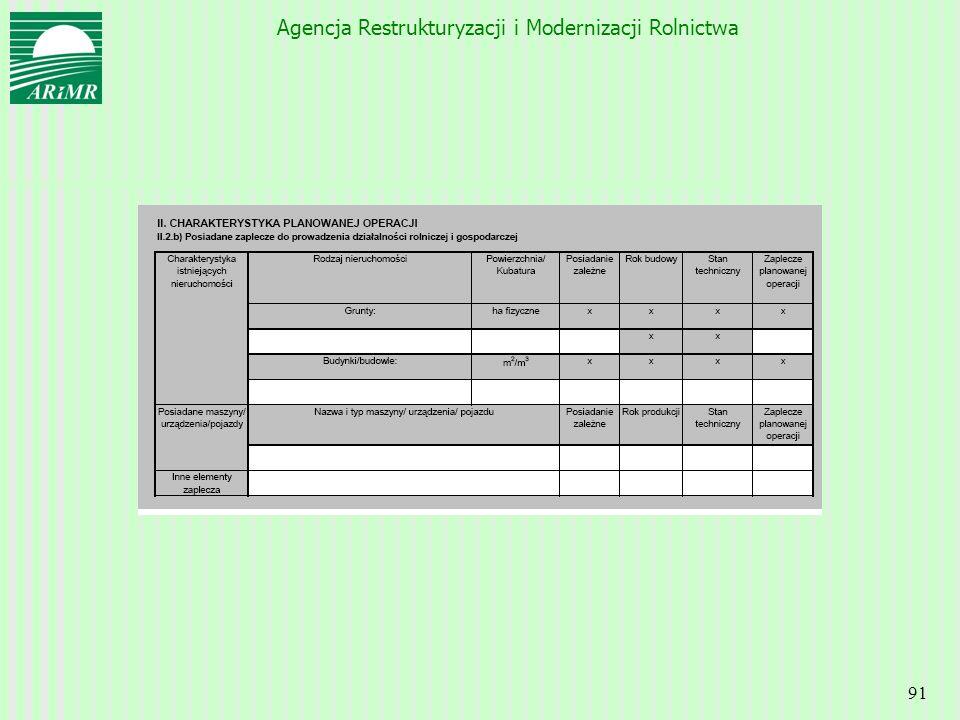 Agencja Restrukturyzacji i Modernizacji Rolnictwa 91