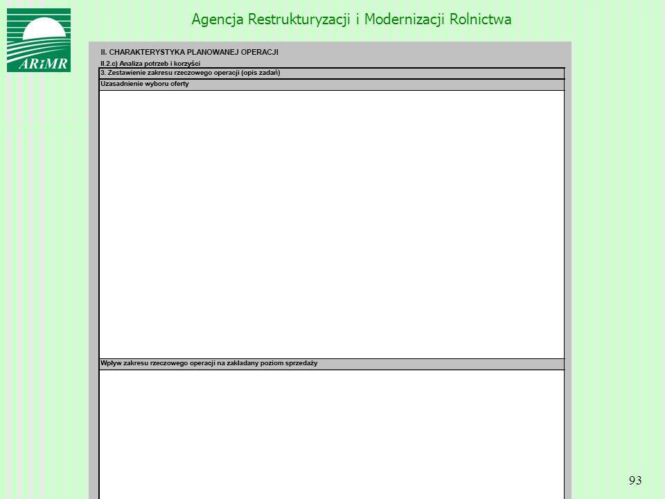 Agencja Restrukturyzacji i Modernizacji Rolnictwa 93