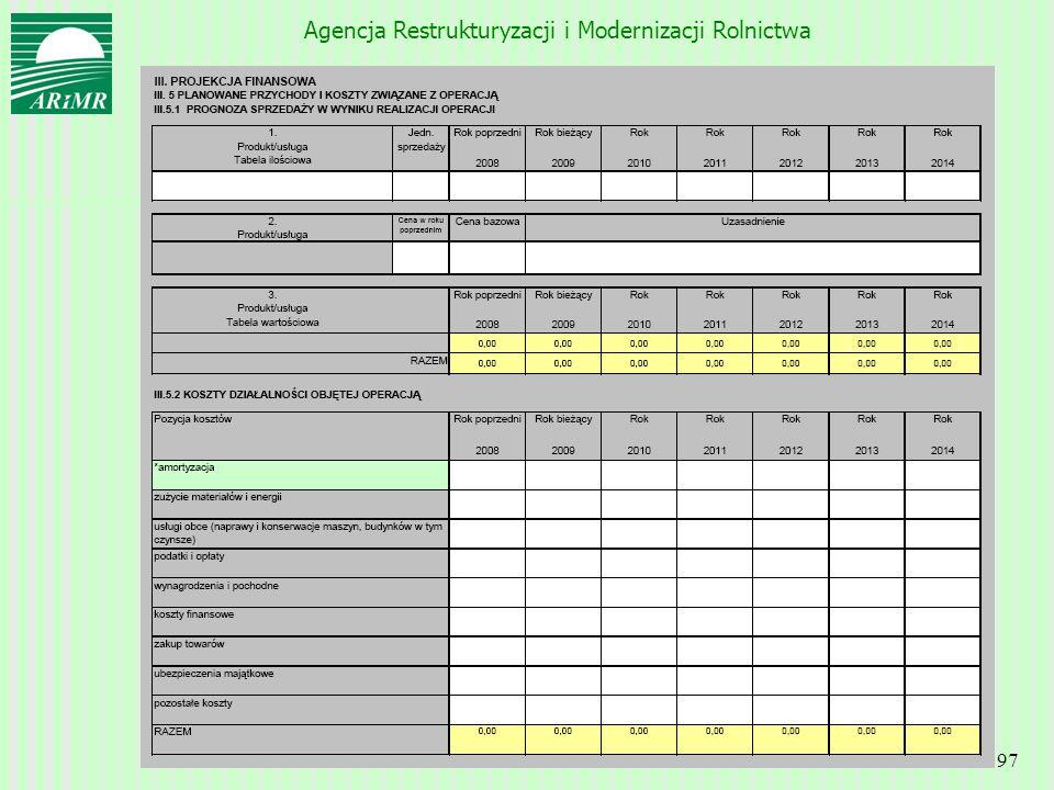 Agencja Restrukturyzacji i Modernizacji Rolnictwa 97