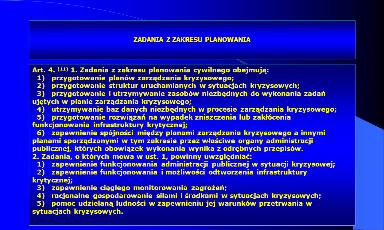 Dr Kamilla Kurczewska, Katedra Prawa WSIiZ w Rzeszowie ZADANIA Z ZAKRESU PLANOWANIA Art. 4. (11) 1. Zadania z zakresu planowania cywilnego obejmują: 1