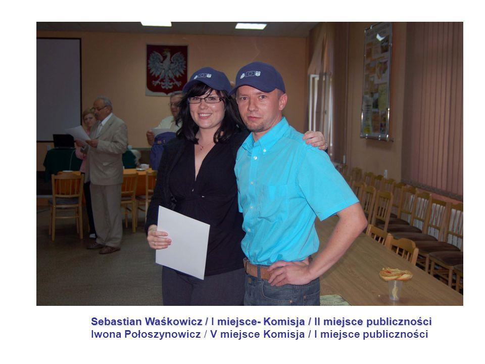 Sebastian Waśkowicz /miejsce- Komisja / II miejsce publiczności Sebastian Waśkowicz / I miejsce- Komisja / II miejsce publiczności Iwona Połoszynowicz