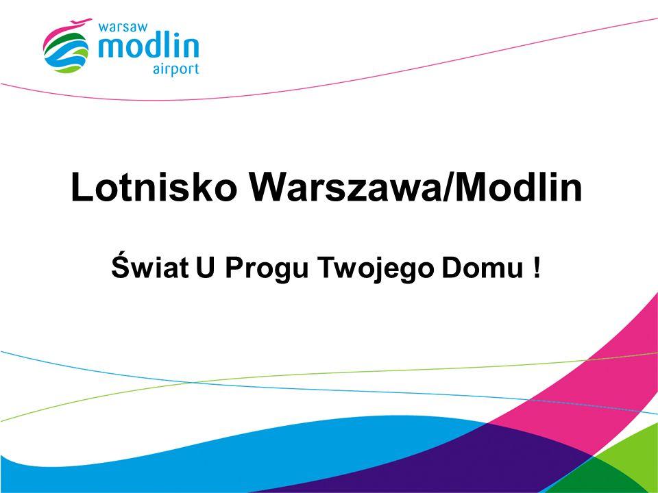 LOKALIZACJA Dojazd drogowy Dwupasmowa (S7) DK (Nr 62) łącząca Nowy Dwór Mazowiecki z Płockiem DK (nr 61) łącząca lotnisko z Ostrołęką i Łomżą Dojazd kolejowy Dedykowane połączenie kolejowe z Lotniska Chopina przez Warszawę Centralną do stacji kolejowej Modlin (4 km od lotniska) Shuttle bus ze stacji Modlin do lotniska od 1 VI 2012 – średnio 1 na 20 minut Bocznica kolejowa bezpośrednio do terminalu planowana na rok 2014