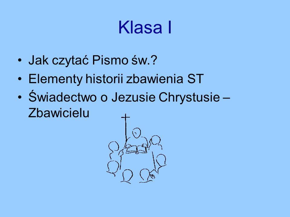 Klasa I Jak czytać Pismo św..