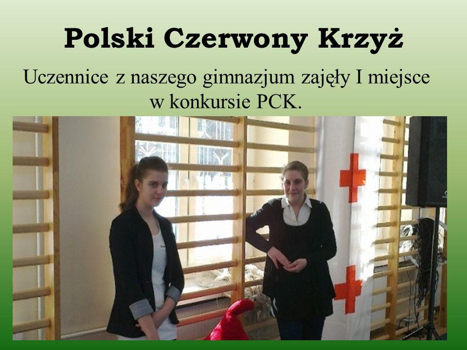 Polski Czerwony Krzyż Uczennice z naszego gimnazjum zajęły I miejsce w konkursie PCK.