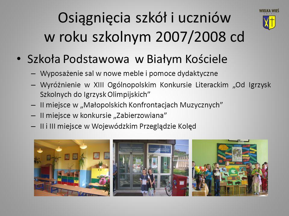 Inwestycje i remonty w roku szkolnym 2007/2008 cd Wydatki inwestycyjne: – Rok 2007 – 2.953.191 zł.