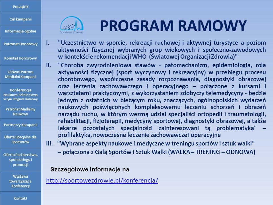 PROGRAM RAMOWY I.