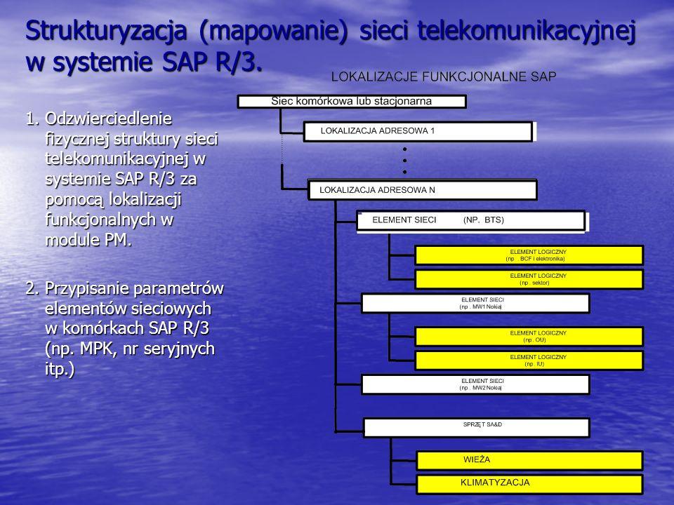 Strukturyzacja (mapowanie) sieci telekomunikacyjnej w systemie SAP R/3. 1. Odzwierciedlenie fizycznej struktury sieci telekomunikacyjnej w systemie SA