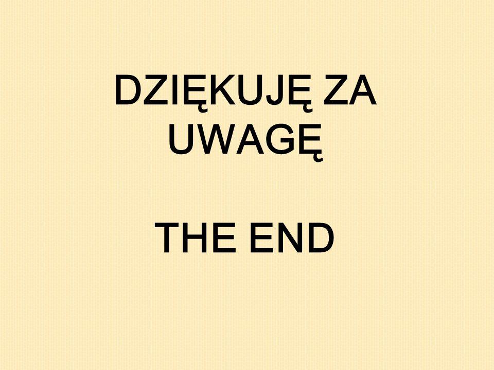 DZIĘKUJĘ ZA UWAGĘ THE END