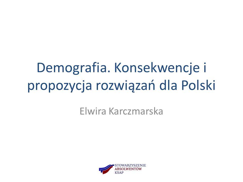 Demografia. Konsekwencje i propozycja rozwiązań dla Polski Elwira Karczmarska