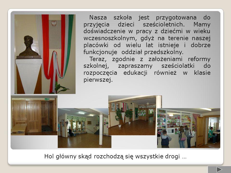 WEJŚCIE / WYJŚCIE Sala oddziału przedszkolnego Hol Łącznik Pawilon klas młodszych Serdecznie zapraszamy na wędrówkę po szkole.