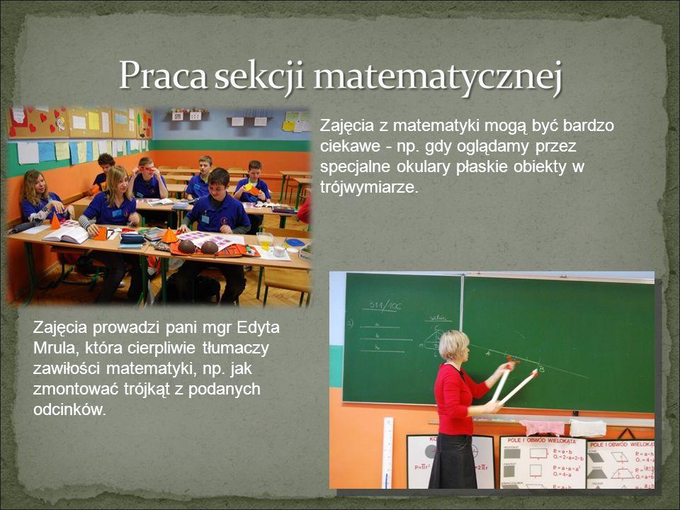 Zajęcia z matematyki mogą być bardzo ciekawe - np.