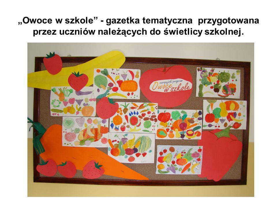 Zapoznaliśmy się z głównym celem programu, który ma za zadanie zachęcić dzieci do spożywania większych ilości owoców i warzyw, a tym samym przyczynić się do ukształtowania dobrych nawyków żywieniowych, które będą utrzymywały się również w późniejszych latach życia.