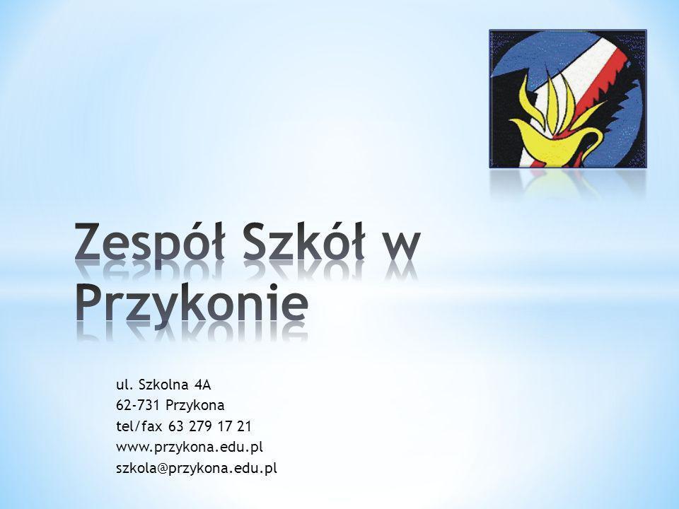 ul. Szkolna 4A 62-731 Przykona tel/fax 63 279 17 21 www.przykona.edu.pl szkola@przykona.edu.pl