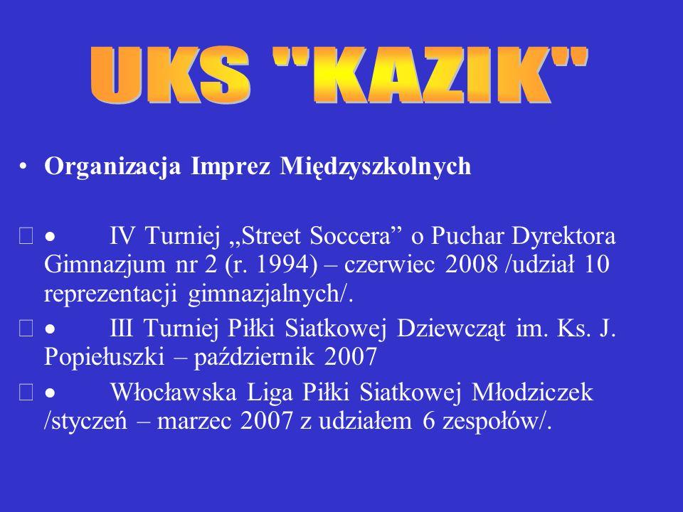 Organizacja Imprez Międzyszkolnych IV Turniej Street Soccera o Puchar Dyrektora Gimnazjum nr 2 (r.