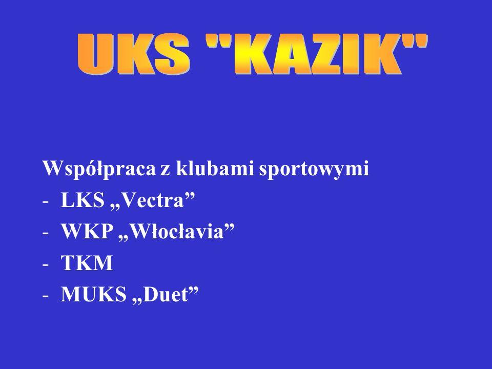 Współpraca z klubami sportowymi -LKS Vectra -WKP Włocłavia -TKM -MUKS Duet