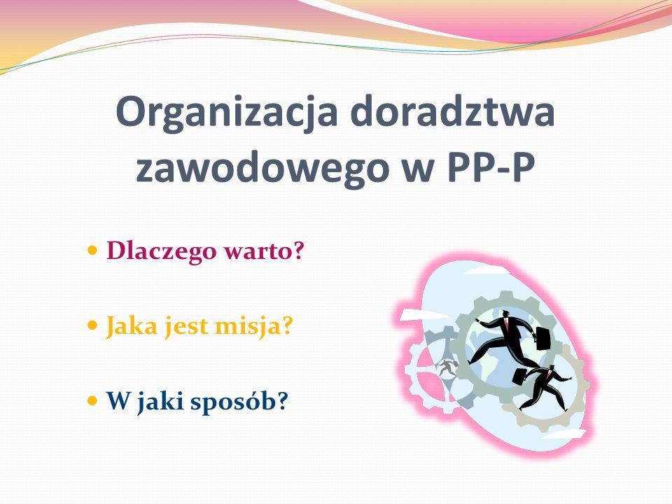 Organizacja doradztwa zawodowego w PP-P Dlaczego warto? Jaka jest misja? W jaki sposób?