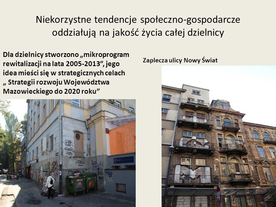 Niekorzystne tendencje społeczno-gospodarcze oddziałują na jakość życia całej dzielnicy Dla dzielnicy stworzono mikroprogram rewitalizacji na lata 200
