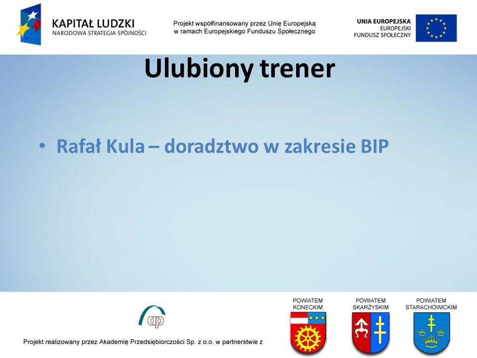 Ulubiony trener Rafał Kula – doradztwo w zakresie BIP