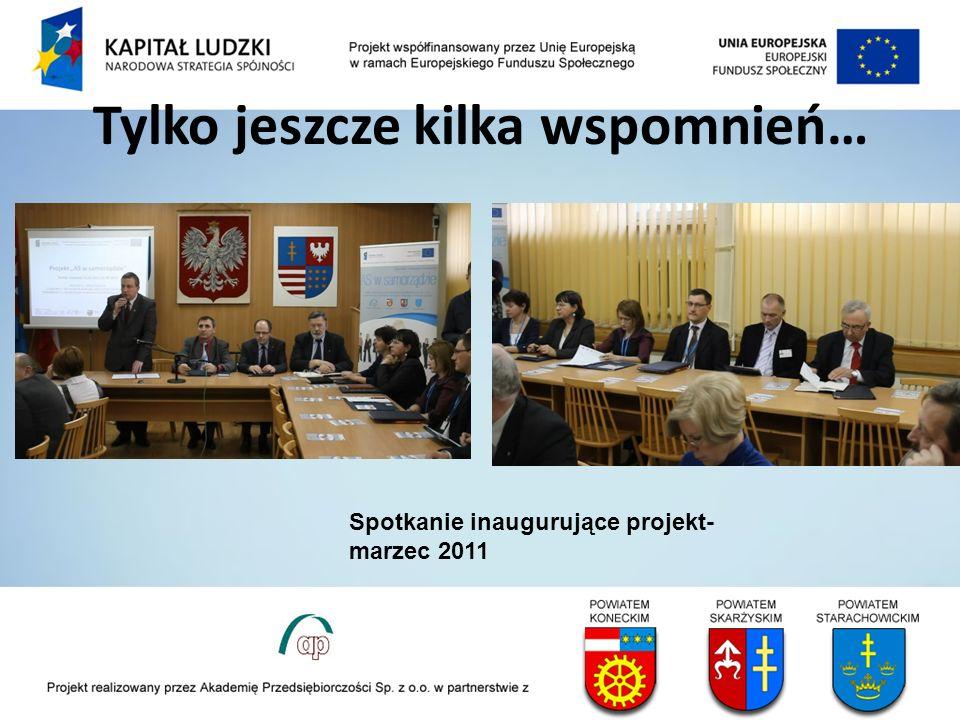 Tylko jeszcze kilka wspomnień… Spotkanie inaugurujące projekt- marzec 2011