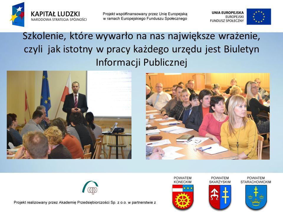 Szkolenie, które wywarło na nas największe wrażenie, czyli jak istotny w pracy każdego urzędu jest Biuletyn Informacji Publicznej