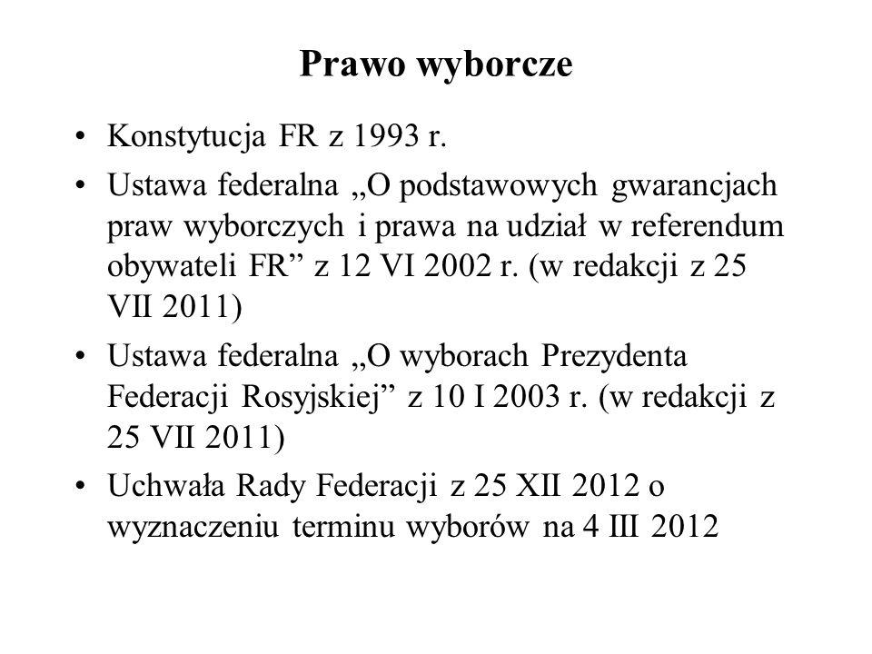 Prawo wyborcze Konstytucja FR z 1993 r.