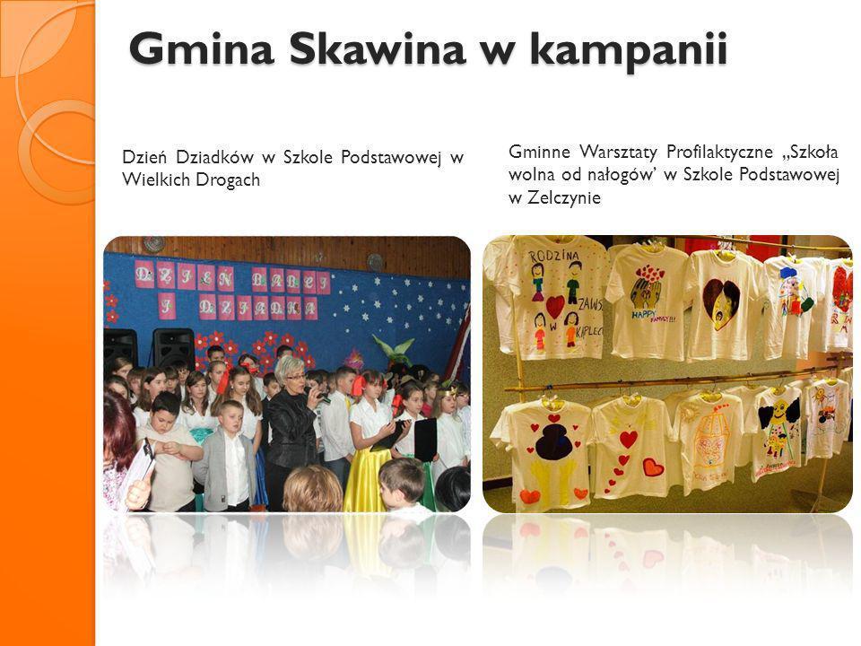 Gmina Skawina w kampanii Gmina Skawina w kampanii Dzień Dziadków w Szkole Podstawowej w Wielkich Drogach Gminne Warsztaty Profilaktyczne Szkoła wolna