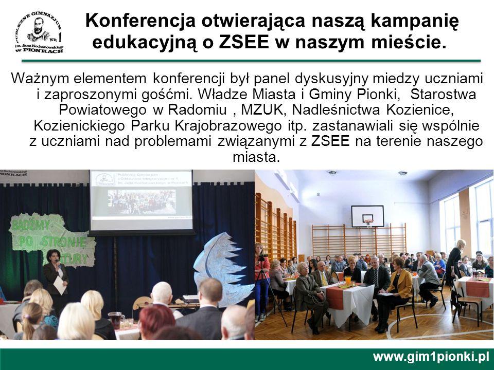 Edukowaliśmy również poprzez konkursy: -V Wojewódzki Konkurs Poezji Ekologicznej pod patronatem Burmistrza Miasta Pionki Pana Marka Janeczka oraz Starosty Radomskiego Pana Mirosława Ślifirczyka.