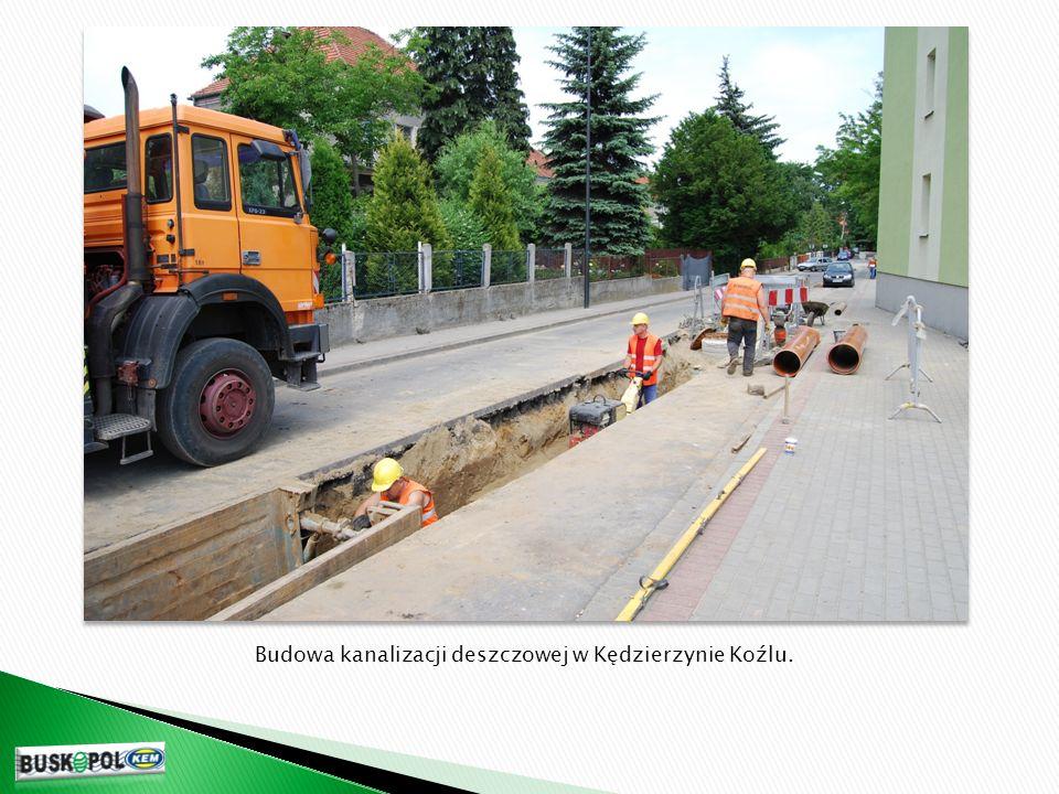 Budowa kanalizacji deszczowej w Kędzierzynie Koźlu.