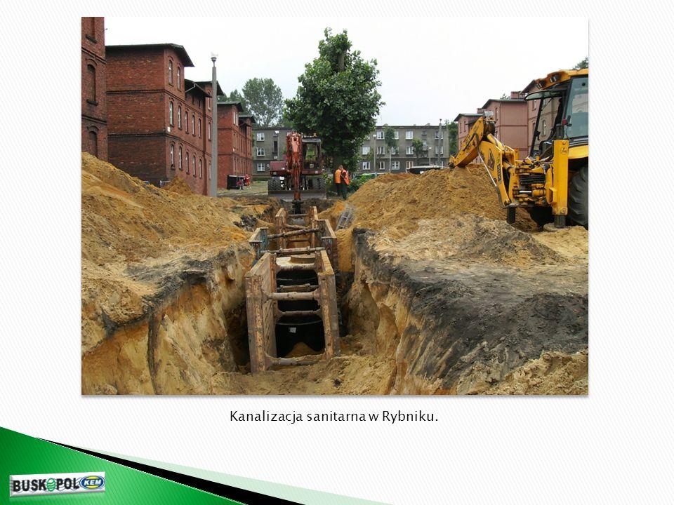 Kanalizacja sanitarna w Rybniku.