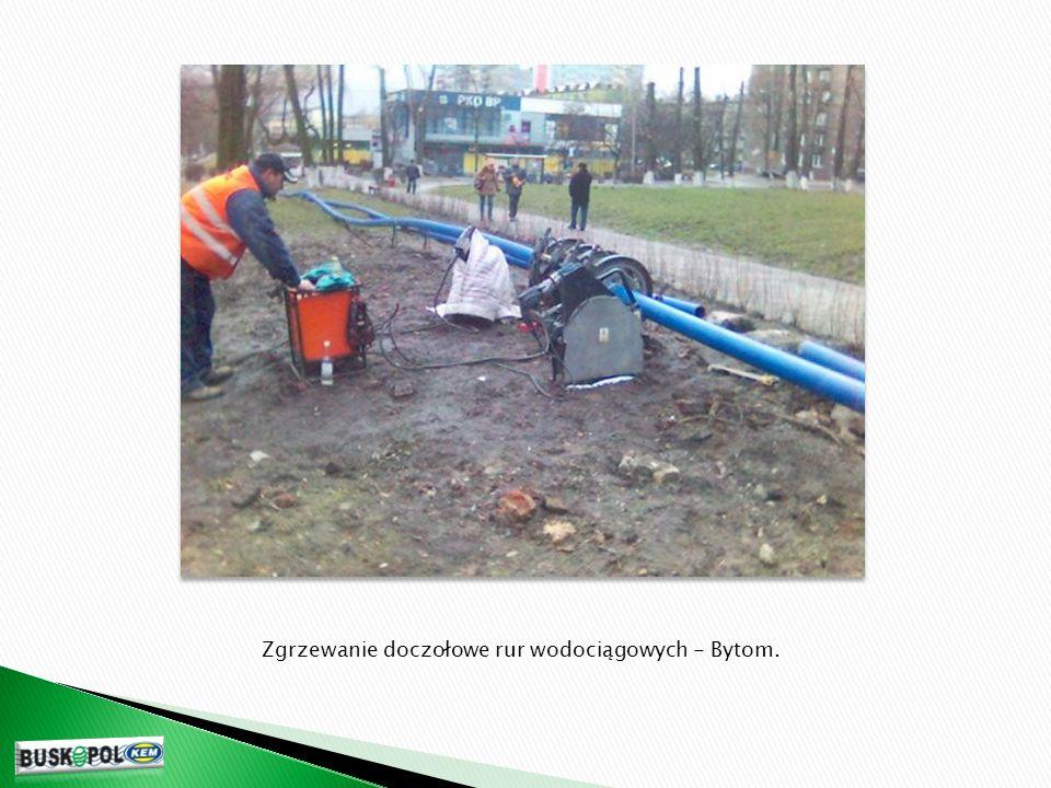 Zgrzewanie doczołowe rur wodociągowych - Bytom.