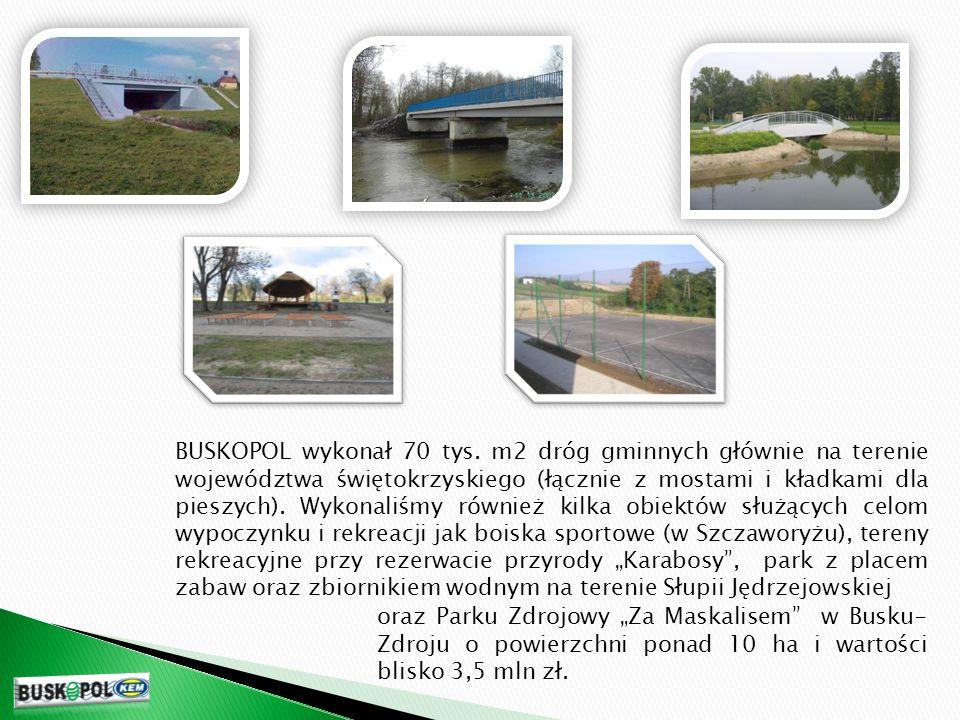 Od roku 1997 nasze przedsiębiorstwo wykonało większość (około 50km) remontów wałów przeciwpowodziowych rzeki Wisły (północna strona) na odcinku od Nowego Korczyna do Sandomierza.