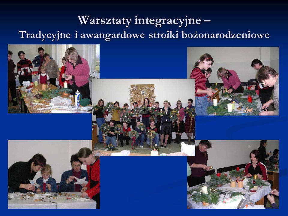 Warsztaty integracyjne – Tradycyjne i awangardowe stroiki bożonarodzeniowe
