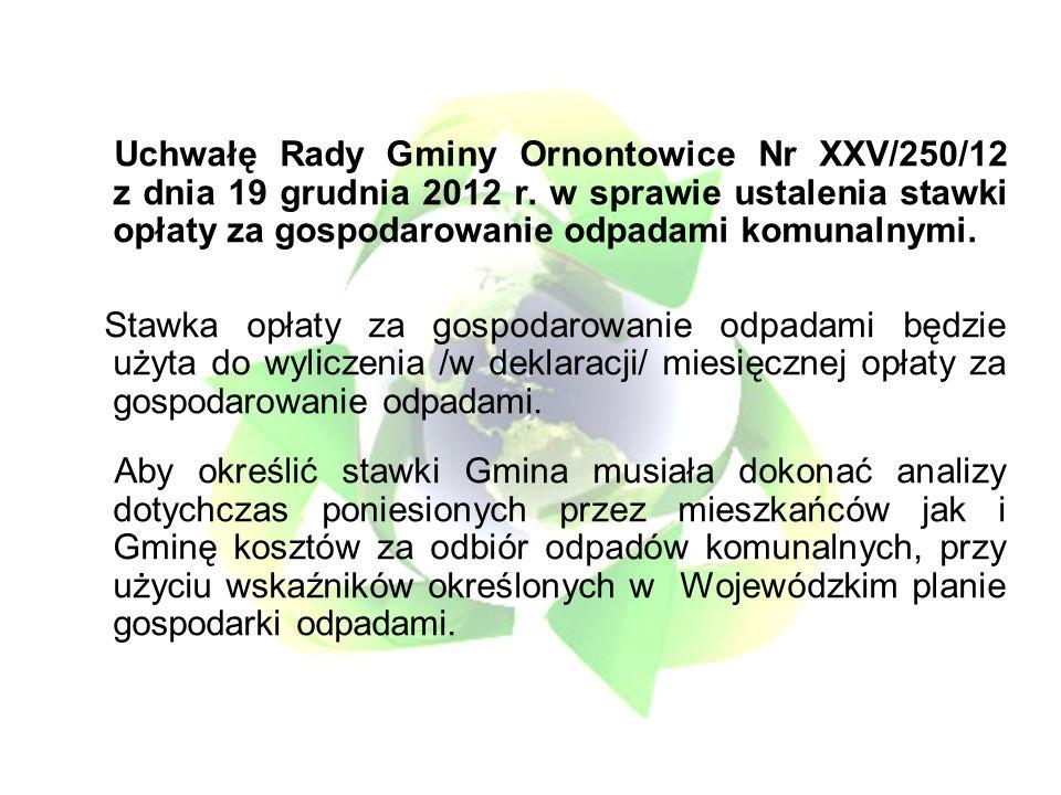 Uchwałę Rady Gminy Ornontowice Nr XXV/250/12 z dnia 19 grudnia 2012 r.