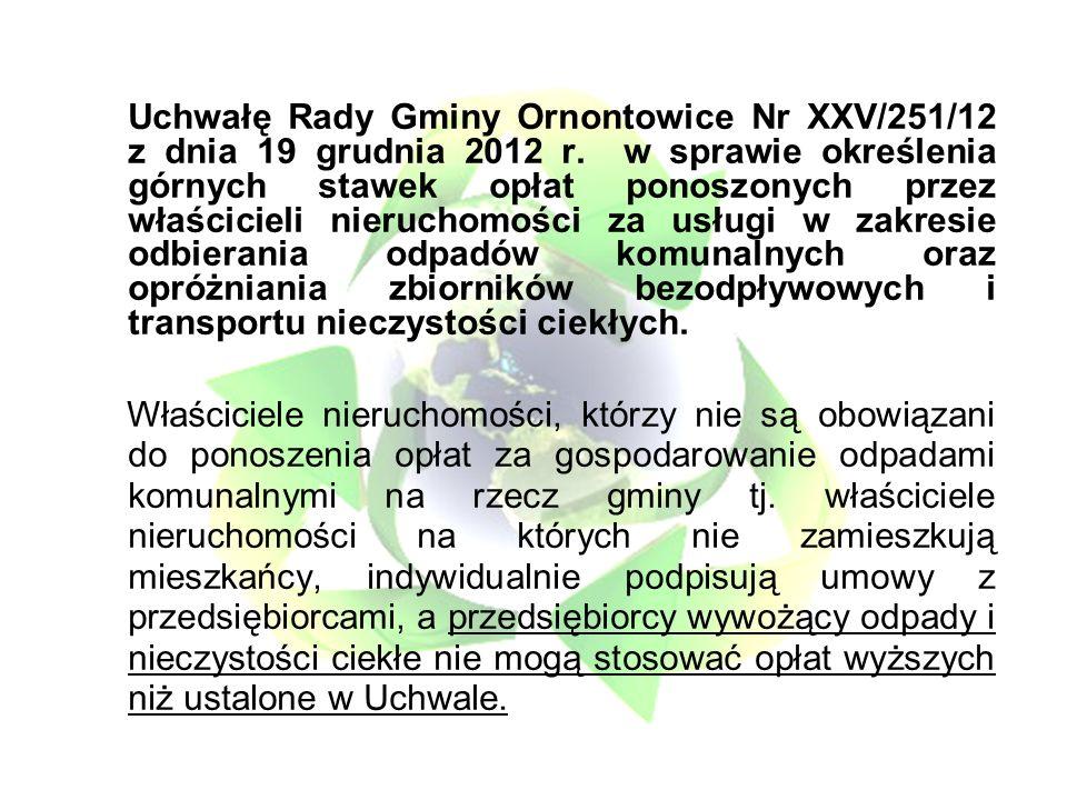 Uchwałę Rady Gminy Ornontowice Nr XXV/251/12 z dnia 19 grudnia 2012 r.
