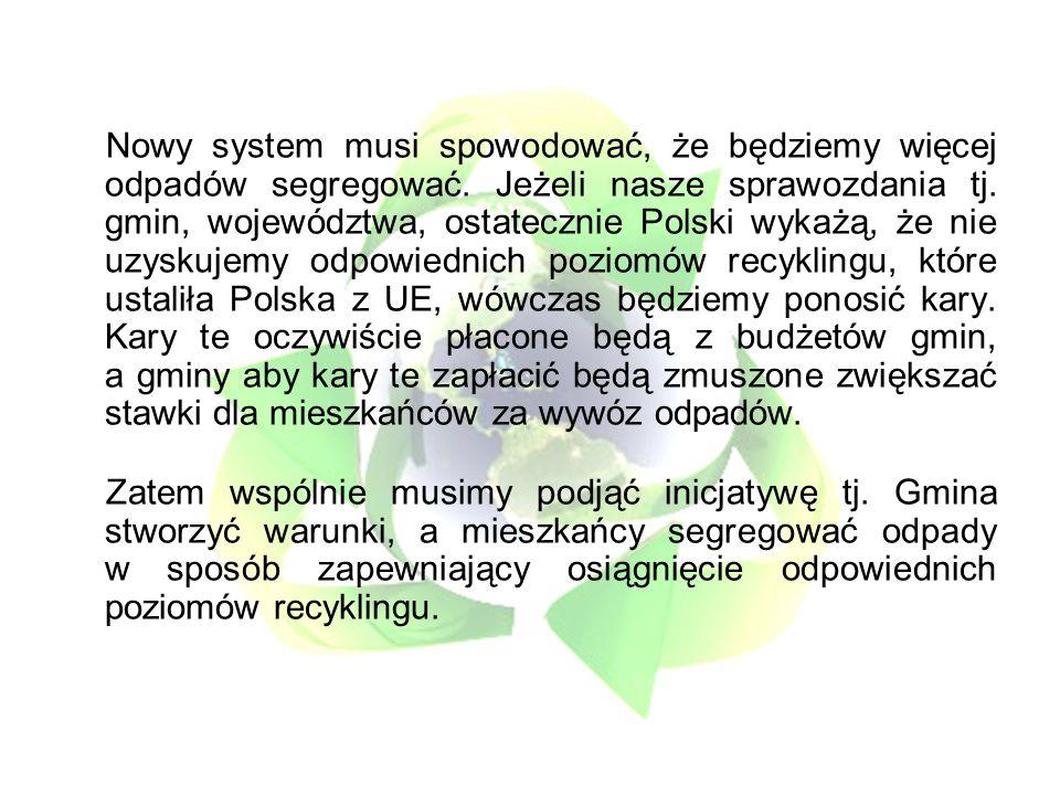 Nowy system musi spowodować, że będziemy więcej odpadów segregować.