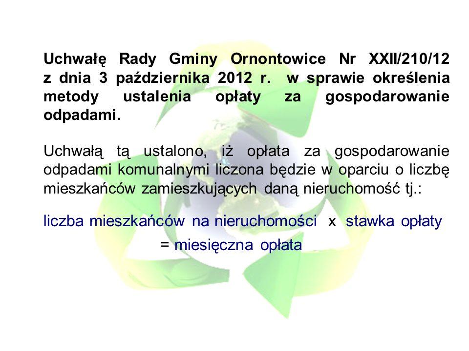 Uchwałę Rady Gminy Ornontowice Nr XXII/210/12 z dnia 3 października 2012 r.