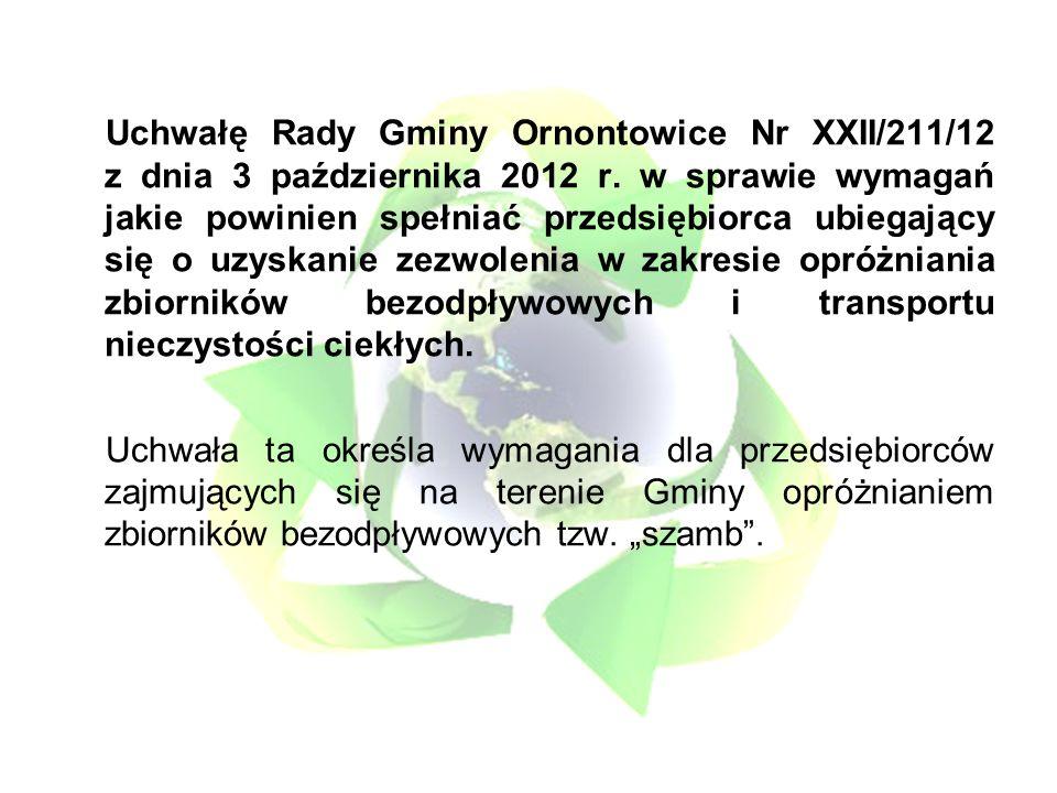 Uchwałę Rady Gminy Ornontowice Nr XXII/211/12 z dnia 3 października 2012 r.
