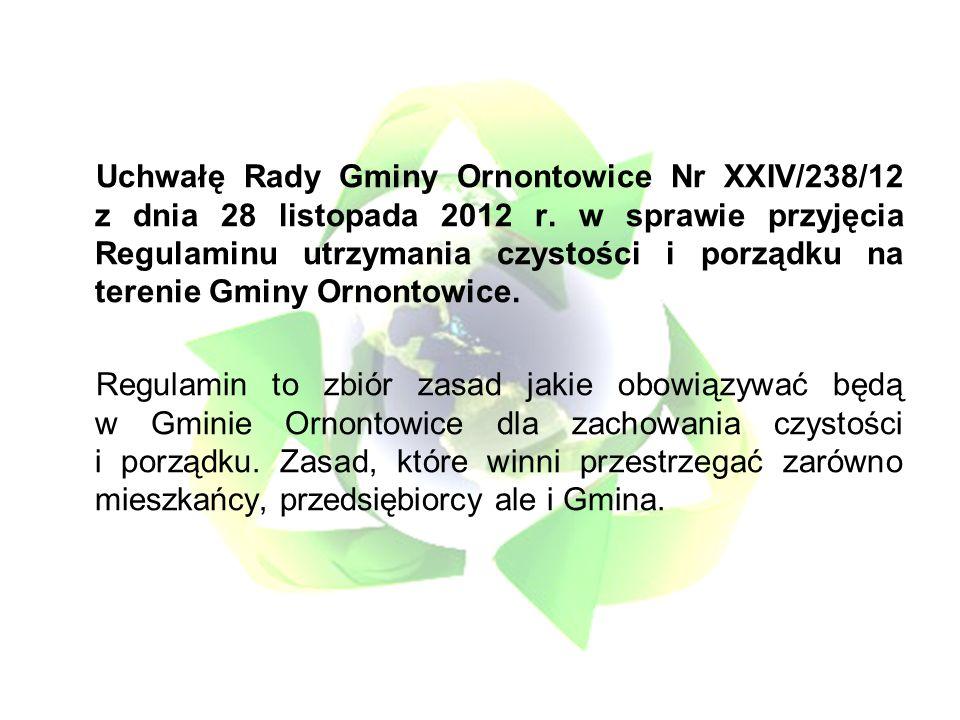 Uchwałę Rady Gminy Ornontowice Nr XXIV/238/12 z dnia 28 listopada 2012 r.
