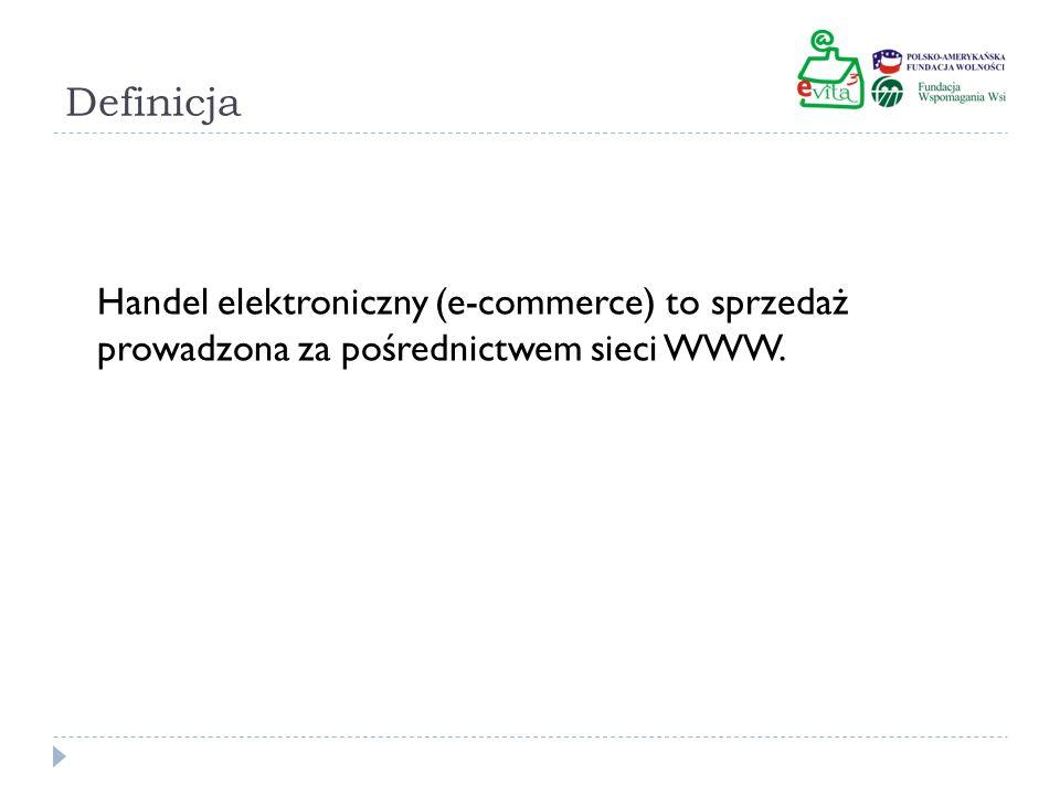 Dane dla Polski W 2009 Polacy wydali na zakupy przez Internet 13,43 miliarda zł (2,2% obrotów w handlu ogółem).