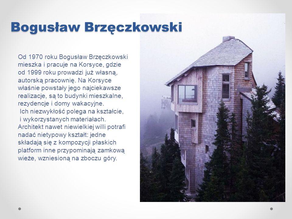 Bogusław Brzęczkowski Od 1970 roku Bogusław Brzęczkowski mieszka i pracuje na Korsyce, gdzie od 1999 roku prowadzi już własną, autorską pracownię. Na