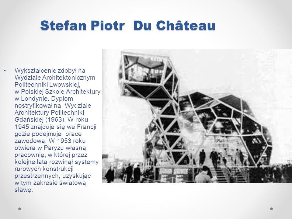 Stefan Piotr Du Château Wykształcenie zdobył na Wydziale Architektonicznym Politechniki Lwowskiej, w Polskiej Szkole Architektury w Londynie. Dyplom n