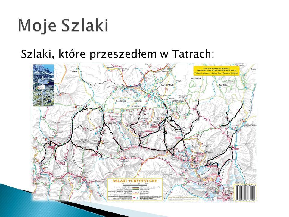 Szlaki, które przeszedłem w Tatrach: