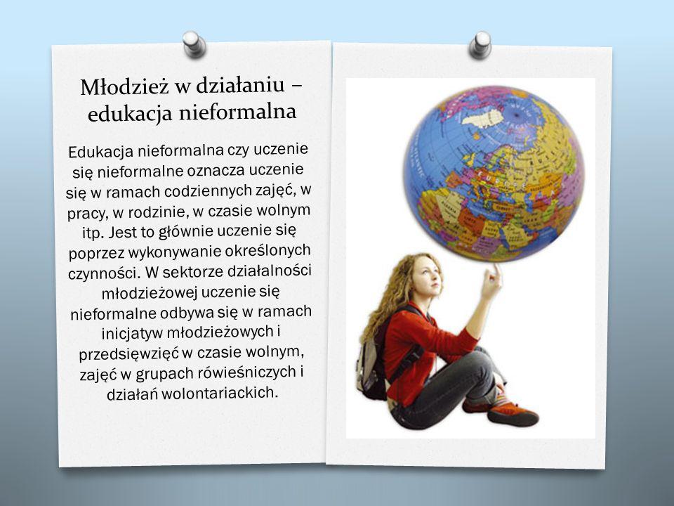 Młodzież w działaniu – edukacja nieformalna Edukacja nieformalna czy uczenie si ę nieformalne oznacza uczenie si ę w ramach codziennych zaj ęć, w prac