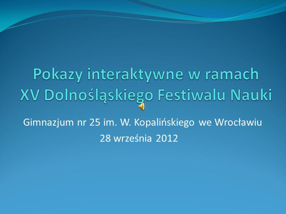 Gimnazjum nr 25 im. W. Kopalińskiego we Wrocławiu 28 września 2012