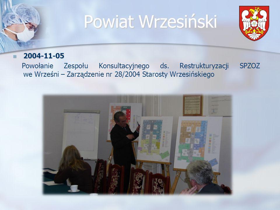 Powiat Wrzesiński 2005-03-30 Spotkanie Zespołu Konsultacyjnego ds.